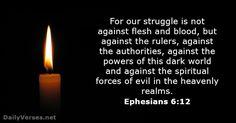 ephesians | Ephesians 6:12 - Bible verse of the day - DailyVerses.net