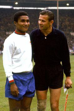Eusebio & Lev Yashin - Portugal & USSR