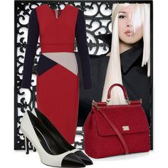 """""""Classy in red"""" by rene-st-hilaire"""