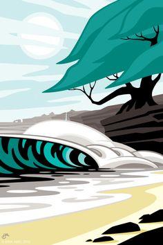 erik abel #surf #art #wave #beach