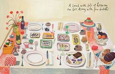 """""""we will always make time for the things that matter. cooking matters."""" preview of maira kalman's illustrations in michael pollan's new edition of 'food rules'"""