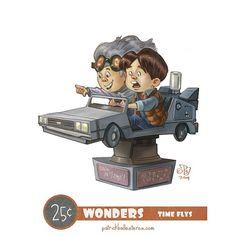 Geeky Characters as Kids on Kiddy Rides Fan Art