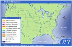 Westward Expansion interactive website.