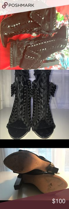 Alexander Wang peep toe Freja booties sz 38 Barely worn Alexander Wang peep toe booties (style named Freja). Purchased from Opening Ceremony. Sz 38/8, worn maybe 2x! Alexander Wang Shoes