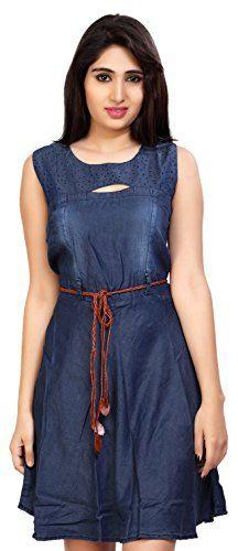Carrel-Womens-Denim-Sleeveless-A-line-Short-DressAGSPL-3165Dark-BlueLarge