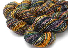 This yarn is dyed to order. Most orders ship out in 3-4 weeks, depending on current wait times, inventory stock, and dye schedule. Pictured on