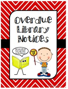 Overdue Library Notices from The Book Fairy Goddess on TeachersNotebook.com -  (16 pages)  - These record sheets can be used to help you manage and hopefully reduce overdue library books in your library