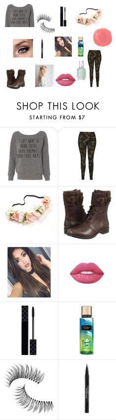 Untitled #449 by sparkle-4 on Polyvore featuring UGG Australia, Trish McEvoy, Lime Crime, Gucci, Essie and Rituel de Fille