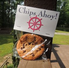 12 Chips Ahoy cookie tent cards tags nautical by Kirascollection, $12.99