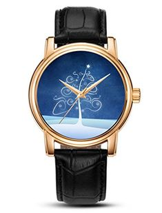 Awaye Leather Watch for Men Women Christmas Gift Analog Quartz curve star tree sky ** You can find more details by visiting the image link.(This is an Amazon affiliate link)