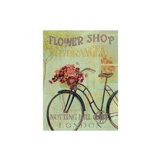 Fabrice De Villeneuve 'London Bicycle' Art Print of Figurative ($16) found on Polyvore