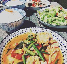#thaifood #thaikitchen Thai Dishes, Green Beans, Vegetables, Food, Essen, Vegetable Recipes, Meals, Yemek, Veggies