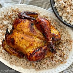 Add some spice to your life with this Jamaican Jerk Glazed Chicken over Sweet Coconut Rice. Juicy, flavorful chicken served over Jamaican coconut rice. Cashew Chicken, Glazed Chicken, Chicken Feed, Lime Chicken, Chicken Curry, Chicken Flavors, Chicken Recipes, Oven Recipes, Jamaican Coconut Rice