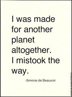 Simone de Beauvoir, born 9 January 1908, died 14 April 1986Nine Quotes