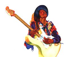 "Jimi Hendrix. ""I want to do with my guitar what Little Richard does with his voice."""