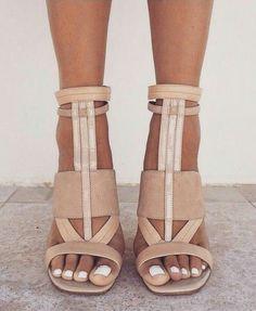 FOLLOW MY SHOE CLOSET BOARD FOR PLENTY MORE · Nude SandalsTan Strappy HeelsHigh  ... 23afce778a92
