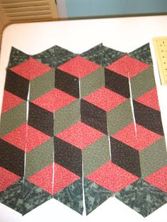 Life in the Scrapatch: Easy Tumbling Blocks Tutorial - Part 2 - Piecing and Sewing