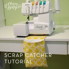 Sewing Scrap Catcher | Kollabora - Pinning this for all the people that love mine! I swear by mine because its' so awesome! --LO