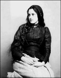 Portrait of Marcia Pascal a beautiful young Cherokee woman. 1880.