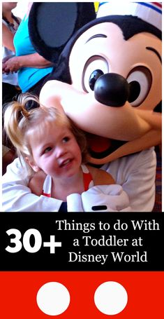 30+ Things to Do With Your Toddler At Disney World! These are MUST DO's and are broken down by each Kingdom inside of Disney World.