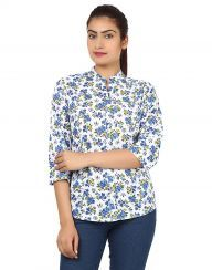 Majesty Blue Stylish Printed Shirt Online Shopping http://www ...