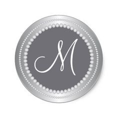 Personalized Silver Beads Wedding Monogram Seals