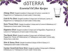 Essential Oil Shot Recipes