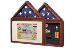 Urns Northwest  - Capitol Burial Flag Case. For 3' x 5' flags, the size flown over the Capitol. Made in the USA from solid wood.
