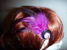 Purple Haze Button Clip - Top End Millinery