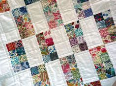 Liberty of london baby quilt.