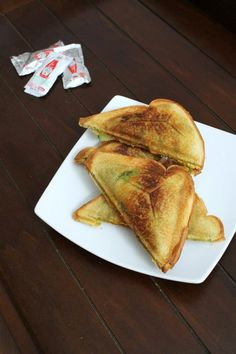 Veg Masala Toast Sandwich Recipe with step by step photos - Mumbai style toast sandwich stuffed with potato masala and vegetable slices Indian Snacks, Indian Food Recipes, Vegetarian Recipes, Cooking Recipes, Healthy Recipes, Bhaji Recipe, Simple Muffin Recipe, Toast Sandwich, Indian Breakfast