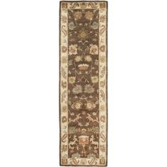 Safavieh Handmade Bergama Ressie Oriental Hand-spun Wool Rug 'x Round – Brown / Ivory) – antique Rugs Wool Runners, Traditional Area Rugs, Area Rug Sizes, Rug Material, Floral Rug, Hand Spinning, Colorful Rugs, Oriental, Pure Products