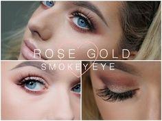 Rose Gold, Glittery Smokey Eye   Make Up Tutorial - YouTube