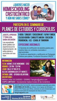 """El 29 de noviembre de 2013 realizamos en bogotá-Colombia, un """"Seminario de Currículos Cristocéntricos"""", donde varias familias homeschoolers expusieron los currículos y planes de estudio…"""
