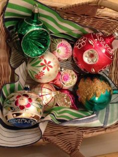 Vintage Glass Ornaments from Austria, Poland, and Brazil