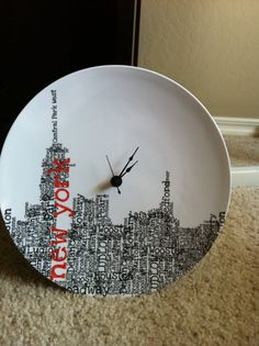 New York State of Mind Plate Clock - $12