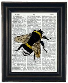 BOGO SALE Bee Upcycle Dictionary Art Book by HamiltonHousePrints