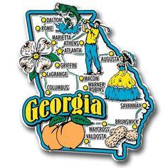 Georgia State Jumbo Magnet
