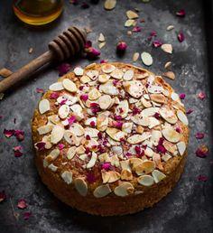 Eggless Honey Almond Cake - Tasha's Artisan Foods Eggless Recipes, Eggless Baking, Almond Recipes, Baking Recipes, Cake Recipes, Baking Organization, Egg Free Cakes, Almond Flour Cakes, Chaat Recipe
