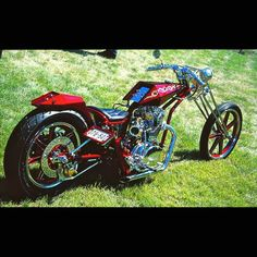 Cool red digger  **MORE Diggers at http://blog.lightningcustoms.com/digger-motorcycles  #digger