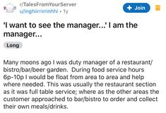 Karen wanted to speak to the manager. She was. #Karen #manager #story #lol #server Revenge Stories, Funny Stories, Management
