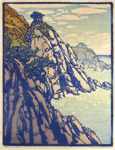 Storm Lined, 1936 by Frances Hammell Gearhart (b. 1869-1958), Californian artist…