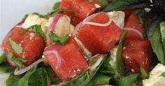 Watermelon Feta Summer Salad With Basil Recipe on Yummly. @yummly #recipe