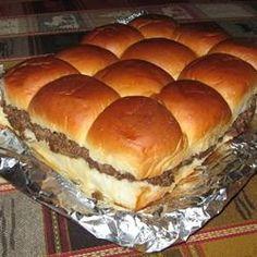 Slider Style Mini Burgers Recipe.....game day!