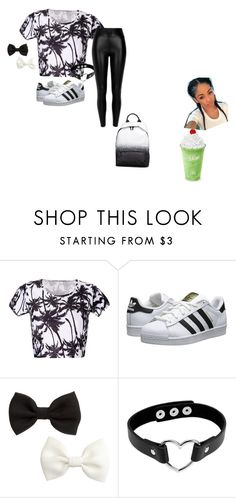 """""""Idk"""" by iilovebrittii ❤ liked on Polyvore featuring adidas Originals, McQ by Alexander McQueen, H&M and River Island"""
