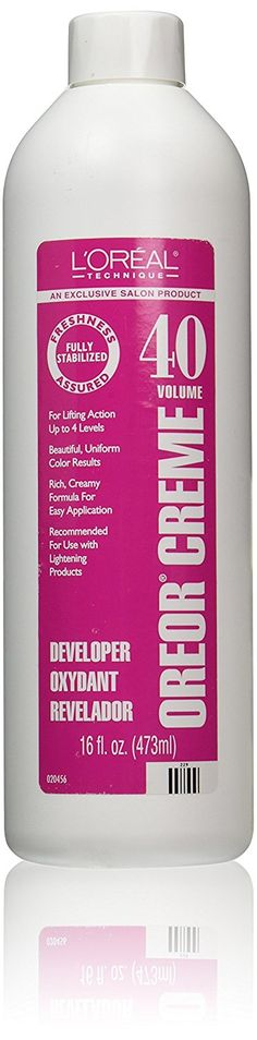 L'Oreal Oreor Creme 40 Volume Developer, 16 Ounce >>> This is an Amazon Affiliate link. Click image for more details.