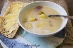 Beer Cheese Ham and Potato Soup - Dark Irish stout and sharp cheese come together around bits of salty ham and soft boiled potatoes in this recipe for a chunky, satisfying soup.