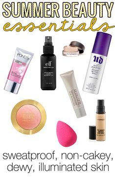 Summer Beauty Essentials - Great list of products to help minimize and prolong your summer beauty routine! Video in the post, too!