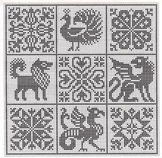 Gallery.ru / Фото #60 - 5 - Auroraten Knitting Charts, Free Knitting, Cross Stitch Patterns, Quilt Patterns, Fair Isles, Fair Isle Knitting, Medieval Art, One Color, Mythology