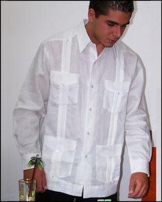 Guayabera Irish linen.  Long sleeve. at CubanFoodMarket.com  Rikki LA Rouge via Latino Alliance onto the mind heart and soul of Rikki LA Rouge (el mente,corazon y alma de Rikki La Rouge)
